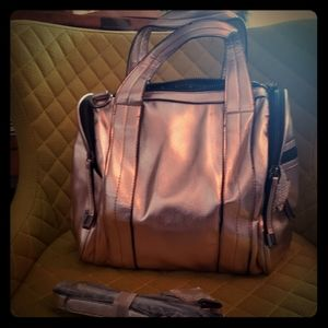 Handbags - rose gold bag